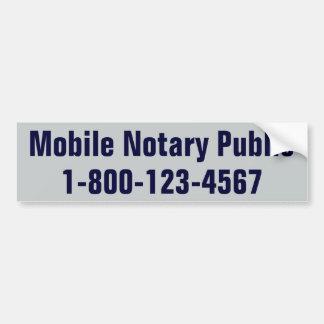 Offentlig mobil Notary Bildekal