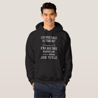 Offentlig revisor för auktoriserad sweatshirt med luva