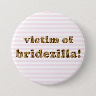 Offer av Bridezilla | Tigerprint Pinback knäppas Mellanstor Knapp Rund 7.6 Cm