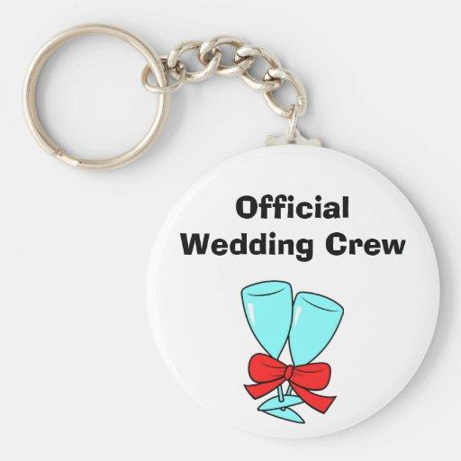 Officiell bröllopbesättning nyckelring