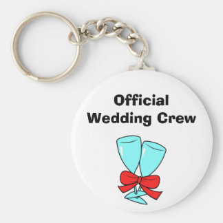 Officiell bröllopbesättning rund nyckelring