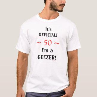 Officiell GeezerTshirt för rolig 50th 60th T-shirt