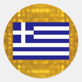 Officiell grekisk flagga runt klistermärke