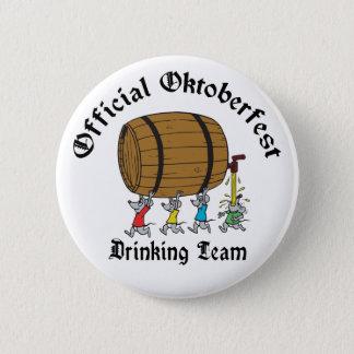 Officiell oktoberfest som dricker laget standard knapp rund 5.7 cm
