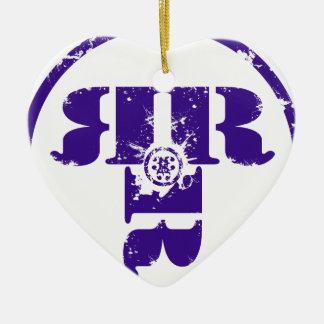 Officiell Rachel Rene Merchandise Hjärtformad Julgransprydnad I Keramik