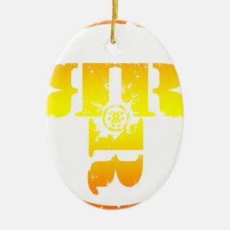 Officiell Rachel Rene Merchandise Ovalformad Julgransprydnad I Keramik