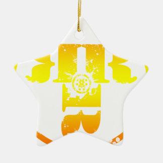 Officiell Rachel Rene Merchandise Stjärnformad Julgransprydnad I Keramik