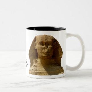 Officiell sphinx- och fiskmugg Två-Tonad mugg