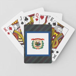 Officiell West Virginia flagga på randar Spel Kort