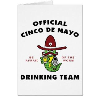 Officiella Cinco de Mayo som dricker laget Hälsningskort