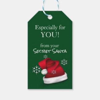 Officiella hemliga Santa gåvamärkre Presentetikett