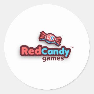 Officiella RedCandy spelar bylte Runt Klistermärke