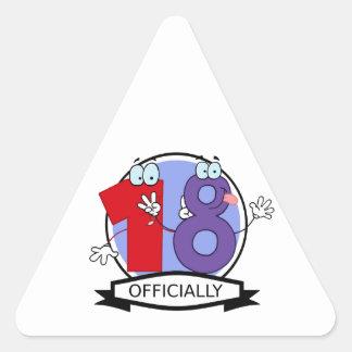Officiellt 18 födelsedag baner triangelformat klistermärke
