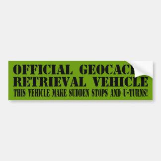 Officiellt Geocache återvinnandefordon Bildekal
