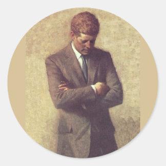 Officiellt porträtt John F. Kennedy Runt Klistermärke