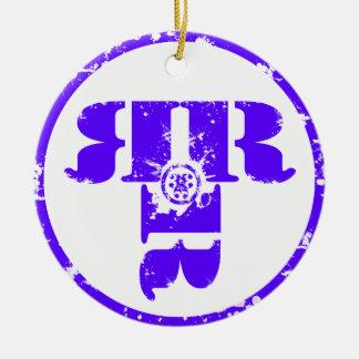Offiicl Rachel Rene Merchandise Rund Julgransprydnad I Keramik