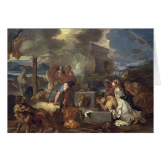 Offret av Noah, c.1640 Hälsningskort