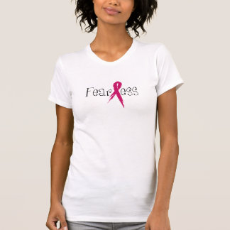 Oförskräckt bröstcancermedvetenhettshirt t-shirts