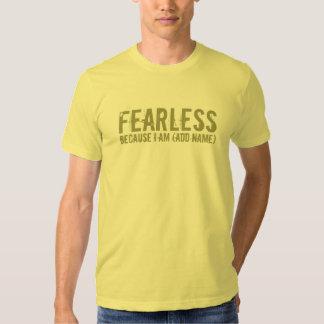 Oförskräckt! , citron (för anpassade) t-shirt