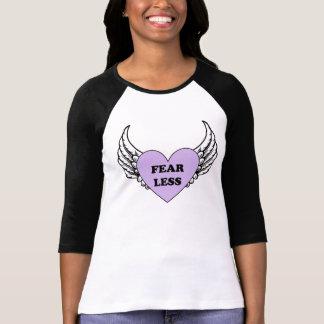 Oförskräckt hjärta med vingar 3/4 sleeveskjorta t shirt