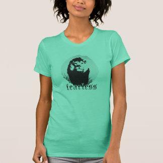 Oförskräckt lejon grafisk T-tröja