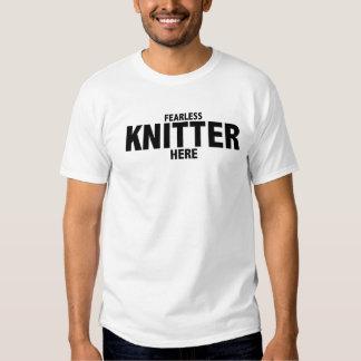 Oförskräckta för Knitter manar här T-tröja Tee Shirts