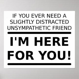 Oförstående vän för dig rolig affisch poster