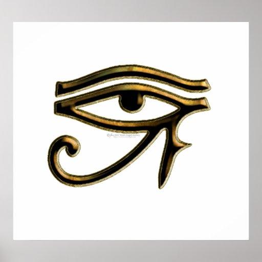 Öga av den Horus affischen Affisch