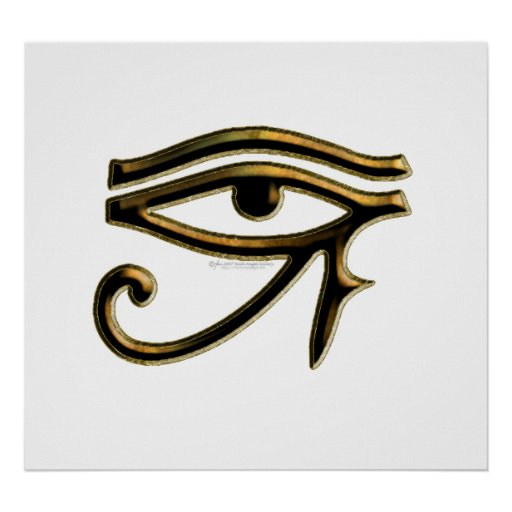 Öga av den Horus affischen Poster