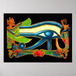 Öga av det Horus affischtrycket Posters