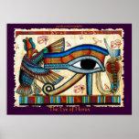 ÖGA AV HORUS-egyptierkonst Affischer
