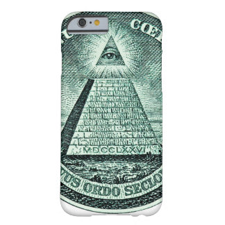 Öga på den dollarIlluminati pyramiden Barely There iPhone 6 Fodral