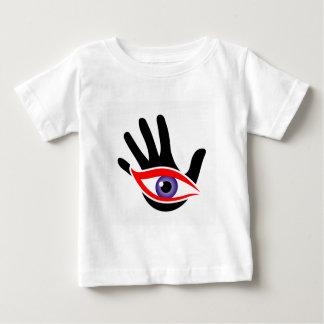 Öga som dyker upp från en handflatan tröja