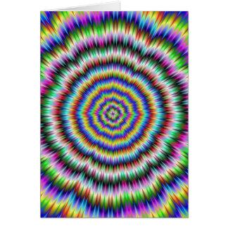 öga som studsar det psychedelic kortet hälsningskort