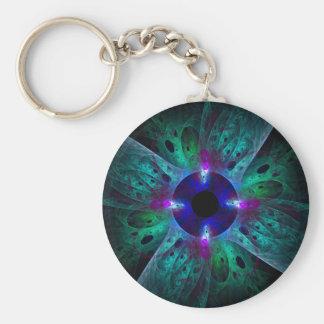 Ögaabstraktkonsten Keychain Rund Nyckelring