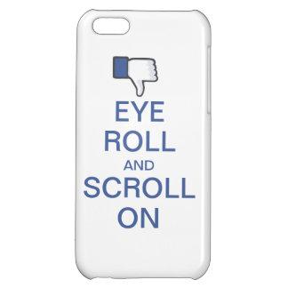 Ögarulle och rulla på Snarky Facebook iPhone 5C Mobil Skydd