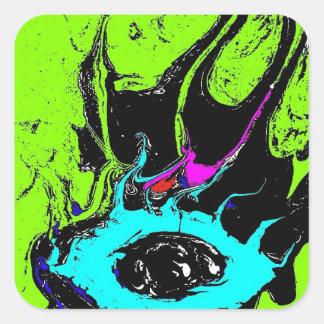 Ögaspion 2 fyrkantigt klistermärke