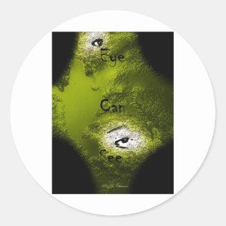 Ögat kan se runt klistermärke