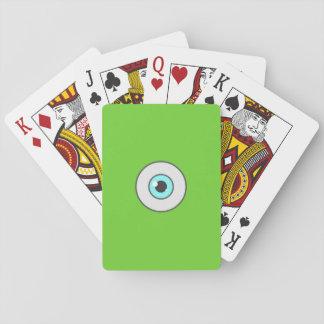Ögat som leker kort spelkort