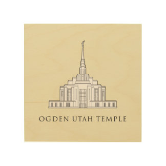 Ogden Utah tempel. wood hänga för vägg Trätavla