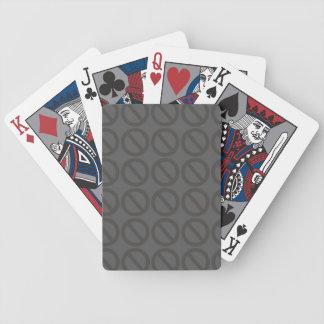 Ogiltiga uppsättningar (Greys) som leker kort Spelkort