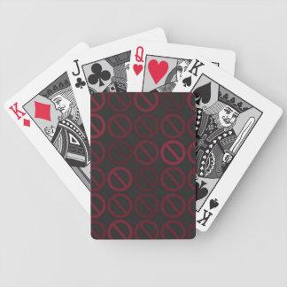 Ogiltiga uppsättningar (som är röda på svart) som spelkort