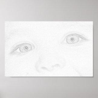 Ögon av ett barn poster