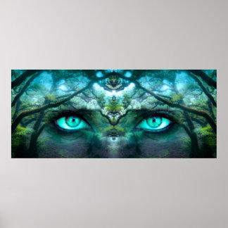 Ögon av skogen poster