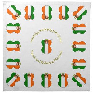 Ögon för Shamrock för hår för irländsk ängelflagga Tygservett