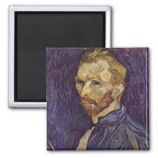 Ögon för Vincent Van Gogh självporträttmörk Magnet