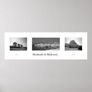 Ögonblick i Mykonos Poster