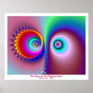Ögonen av hypnotiserad poster