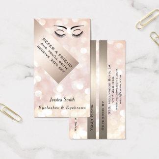 Ögonfranser & ögonbryn för bokeh för remisskort visitkort