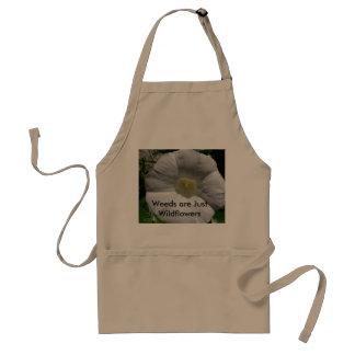 Ogräs är precis vildblommaträdgårdsmästareförkläde förkläde